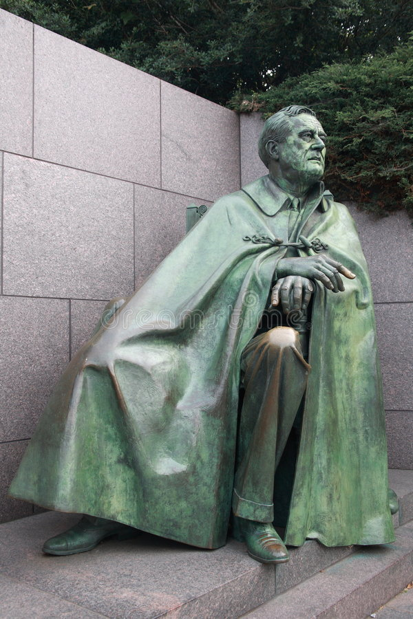 Franklin Roosevelt Statue royalty free stock photo