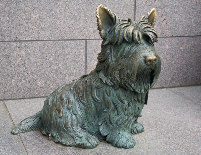 Franklin Roosvelt's Dog stock photos