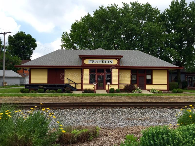 Franklin Train Depot royalty free stock photography