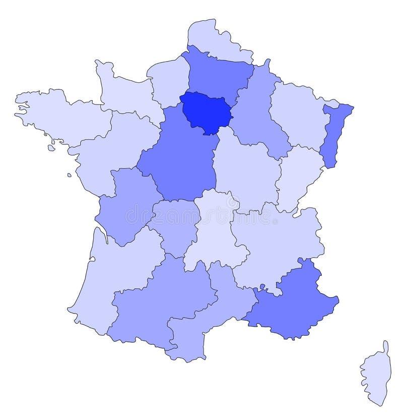 Frankreich-Blau stock abbildung