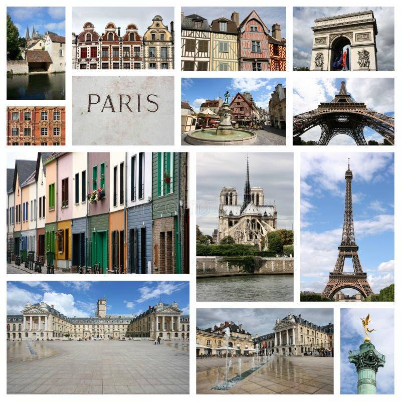 Frankreich-Collage lizenzfreie stockfotos