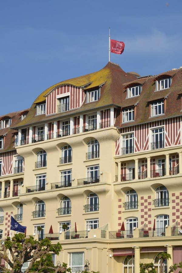 Frankreich, die malerische Stadt von Deauville stockbilder