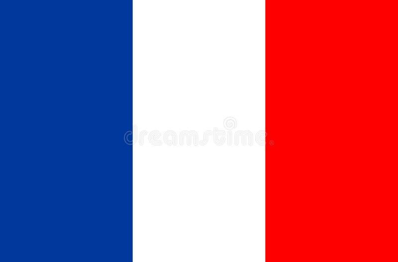 Frankreich-Flaggen-Vektor-Ikone Markierungsfahne von Frankreich Weltcupfußballspiel stock abbildung