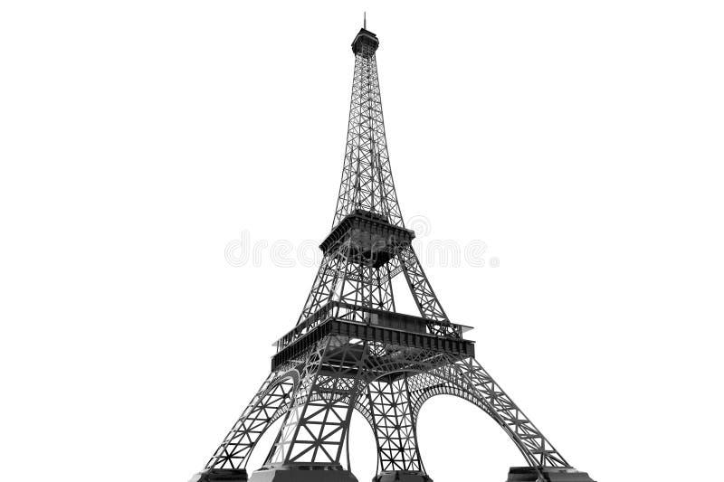 Frankreich-Konzept. Paris-Eiffelturm lizenzfreie abbildung