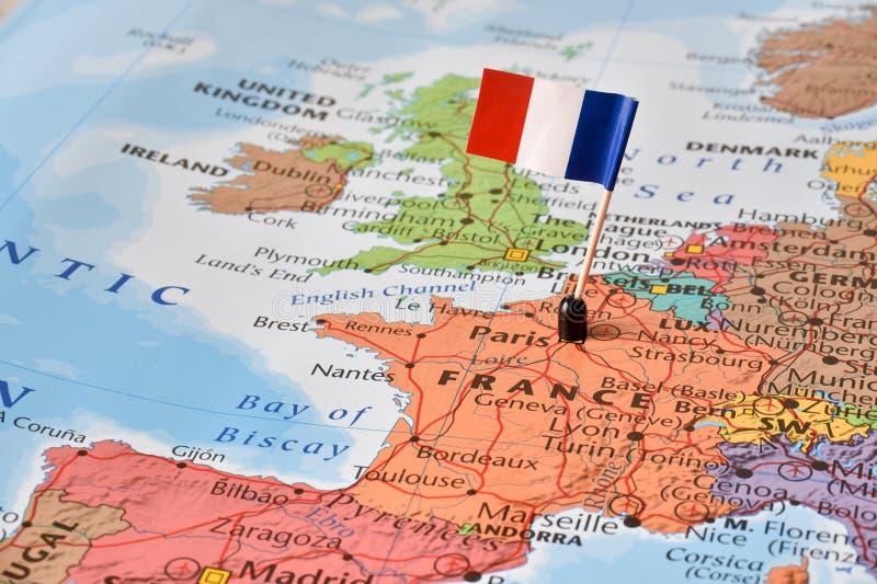 Frankreich-Konzeptbild - Weltbrenzlige Stelle lizenzfreies stockbild