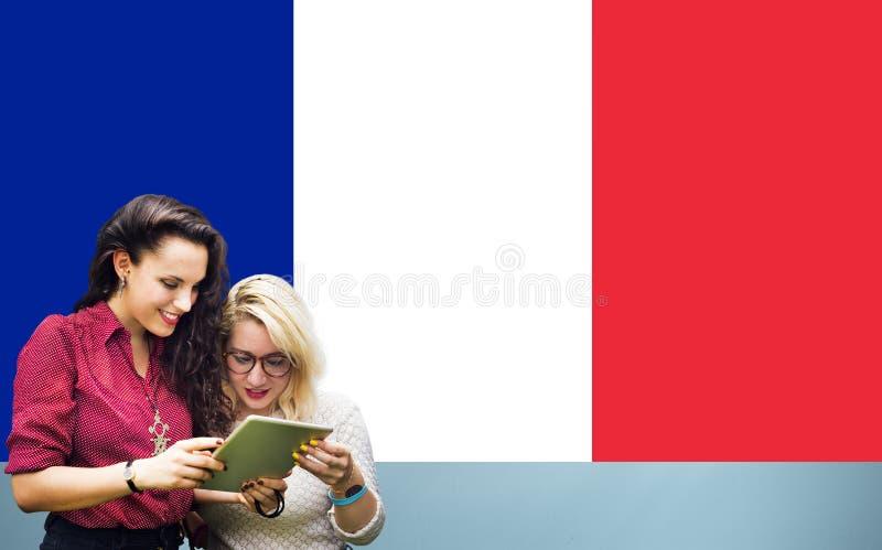Frankreich-Landesflagge-Nationalitäts-Kultur Liberty Concept stockbild