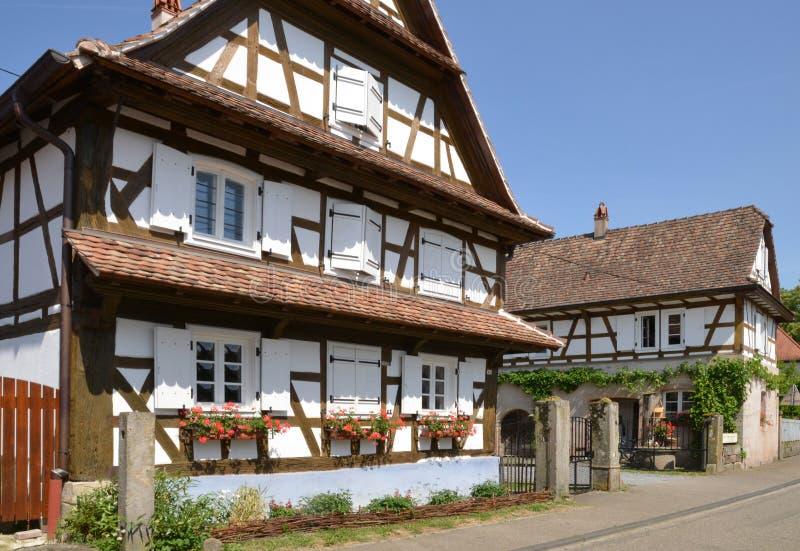 Frankreich, malerisches Dorf von Hunspach in Elsass lizenzfreies stockfoto