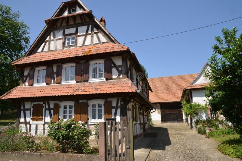 Frankreich, malerisches Dorf von Hunspach in Elsass lizenzfreie stockfotografie