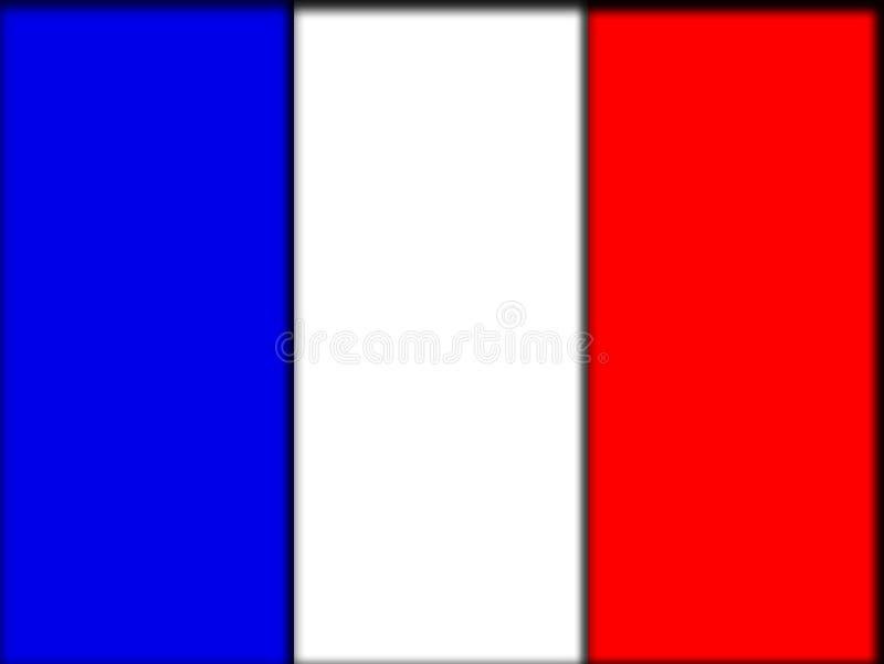 Frankreich-Markierungsfahne vektor abbildung