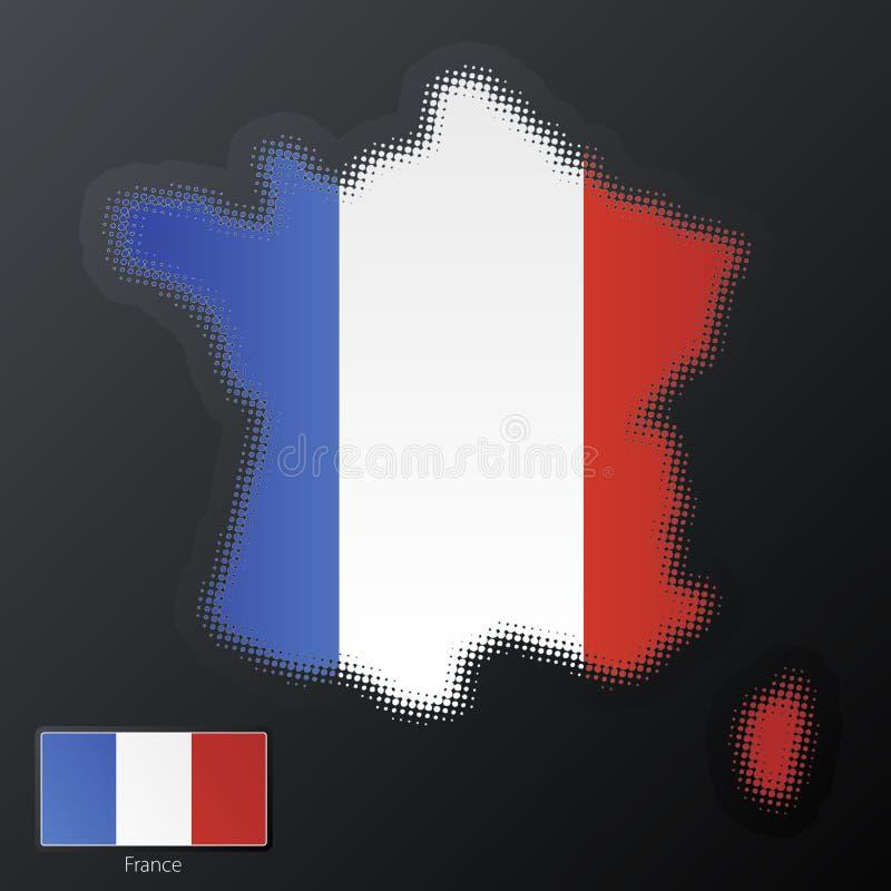 Frankreich-modernes Halbtonbild vektor abbildung