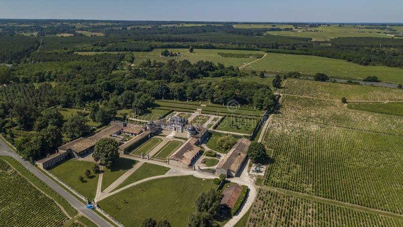 Frankreich, Schloss von Malle in Gironde, Sauternee, Frankreich lizenzfreies stockfoto