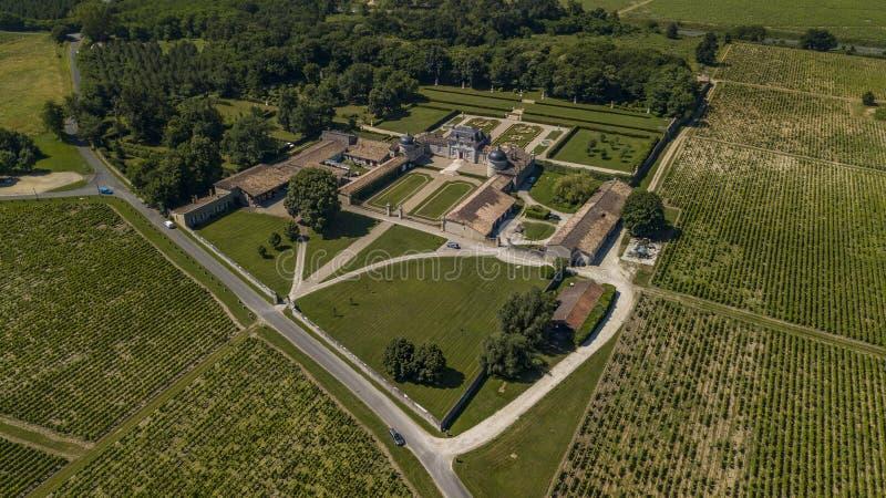 Frankreich, Schloss von Malle in Gironde, Sauternee, Frankreich lizenzfreie stockbilder