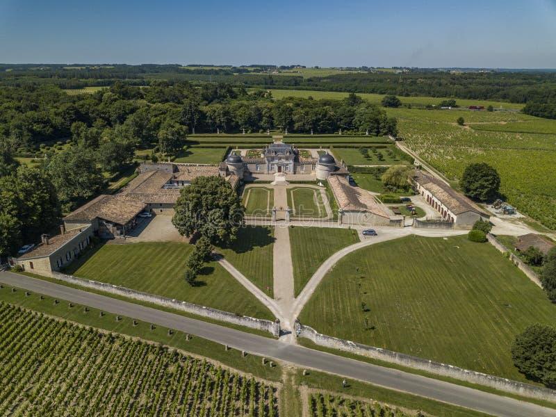 Frankreich, Schloss von Malle in Gironde, Sauternee, Frankreich stockbild