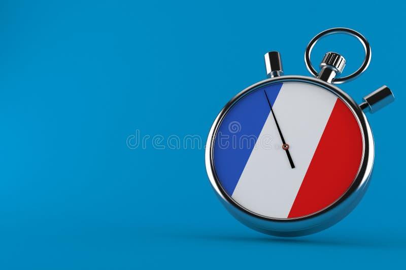Frankreich-Stoppuhr stock abbildung