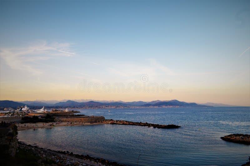 Frankreich-Strand, Antibes stockbilder