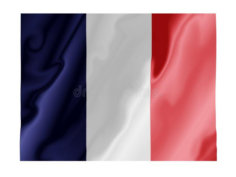 Frankreichflattern lizenzfreie abbildung