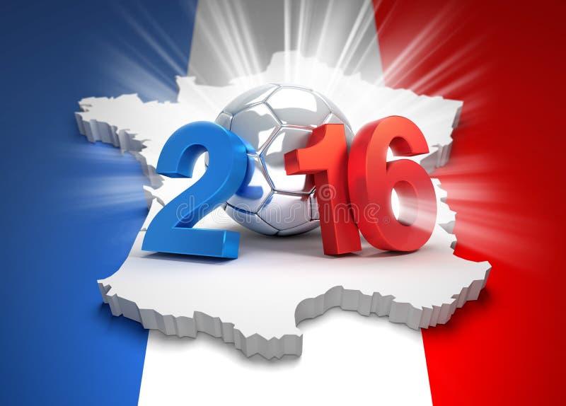 Frankrijk 2016 royalty-vrije illustratie
