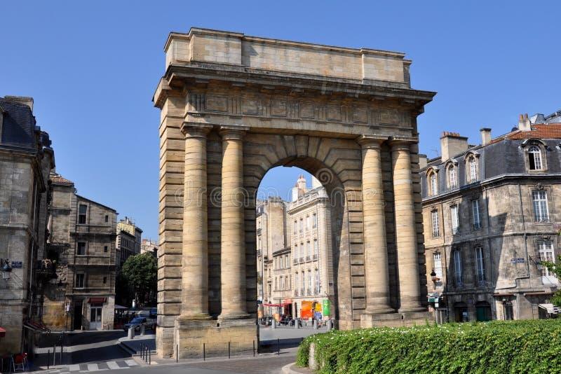 Frankrijk, Aquitaine, Bordeaux, deur van Bourgogne stock foto