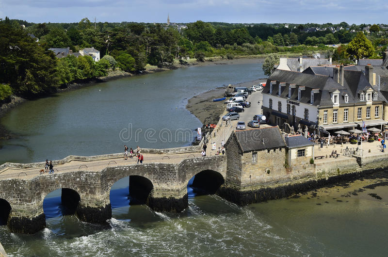 Frankrijk, Bretagne, Auray royalty-vrije stock afbeeldingen