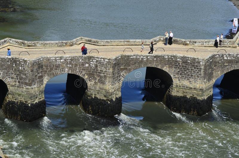 Frankrijk, Bretagne, Auray stock foto's