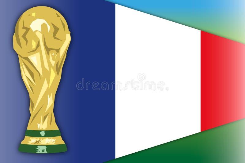 Frankrijk, de kampioen van de finalistwereld, Rusland 2018, semi def. royalty-vrije illustratie