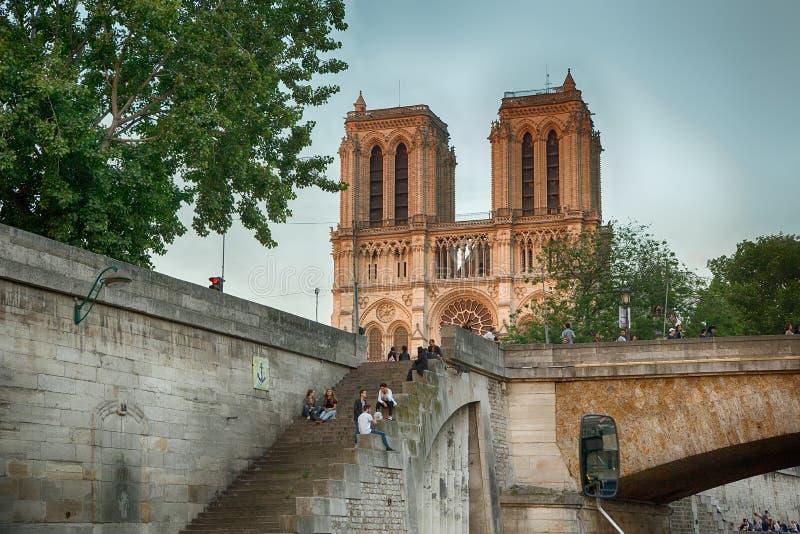 frankrijk Het Notre Dame de Paris van Cathedrale royalty-vrije stock foto