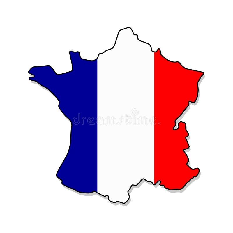 frankrijk Kaart van de vectorillustratie van Frankrijk royalty-vrije illustratie