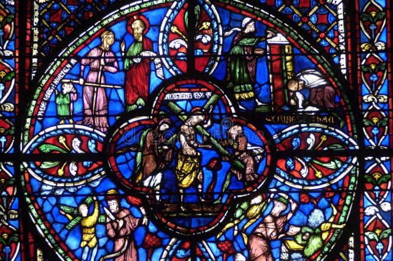 Frankrijk, kathedraal van Bourges stock foto