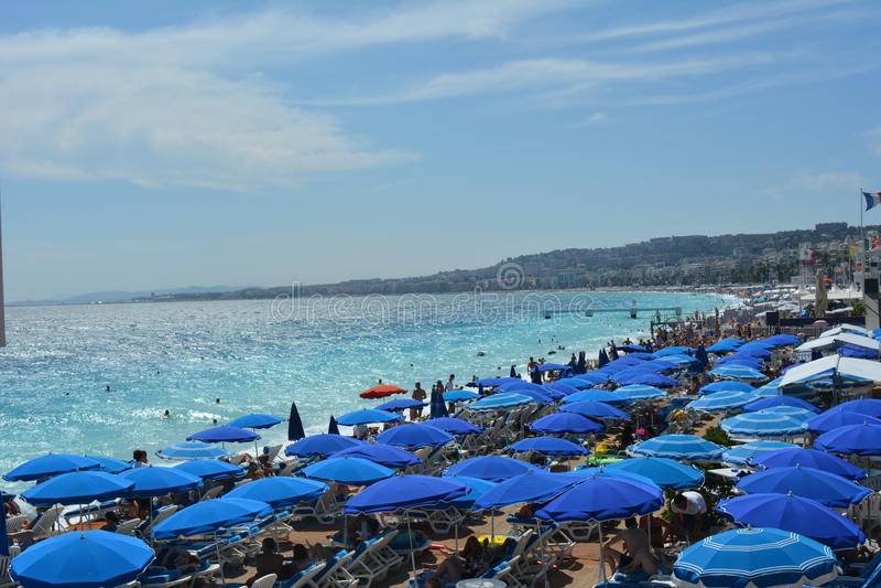 Frankrijk, Nice paraplu's stock foto's