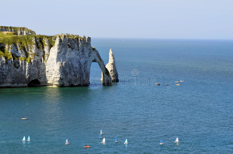 Frankrijk, Normandië, Etretat stock afbeelding