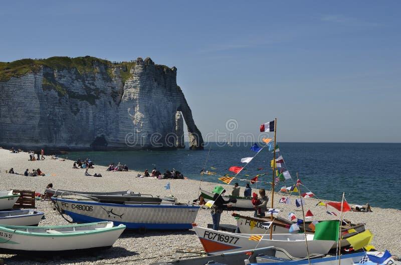 Frankrijk, Normandië, Etretat stock foto