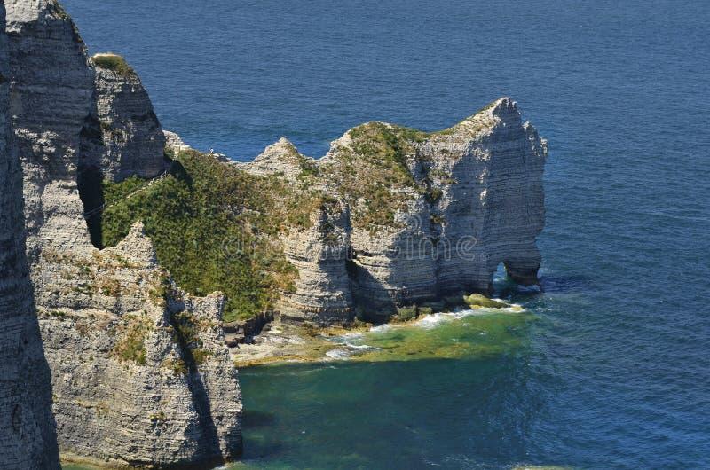 Frankrijk, Normandië, Etretat, kust op Engels Kanaal royalty-vrije stock fotografie