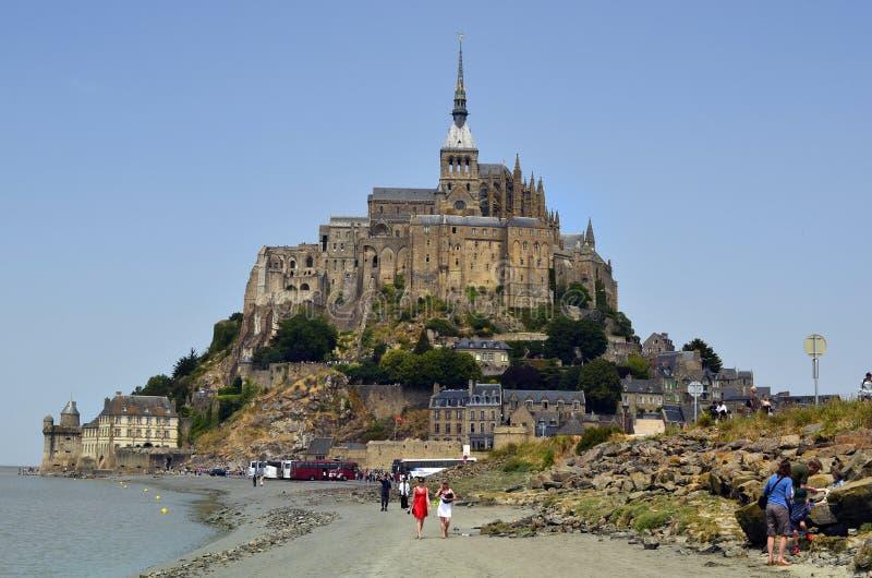 Frankrijk, Normandië, Mont San Michel stock foto's