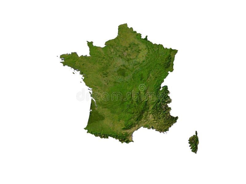 Frankrijk op Witte Achtergrond royalty-vrije illustratie