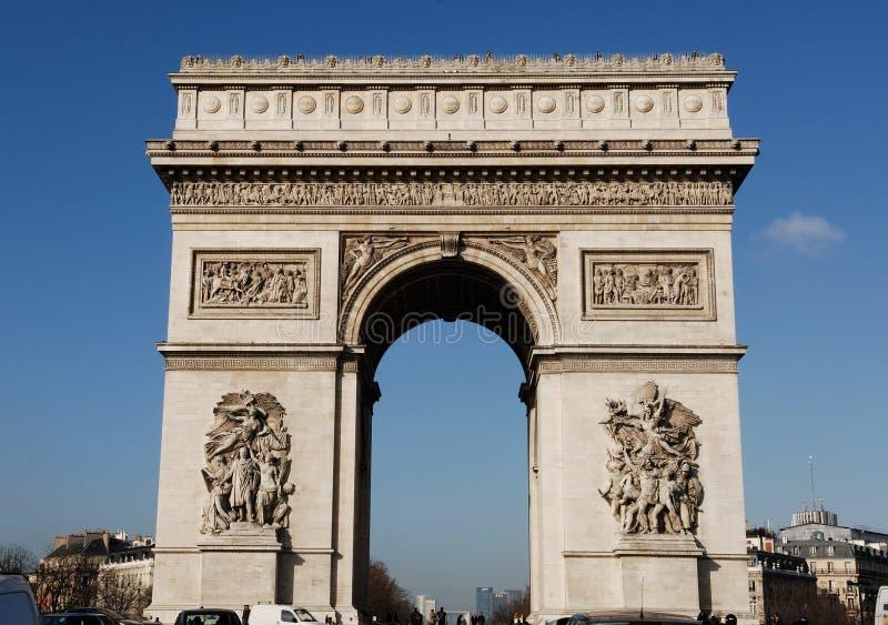 Frankrijk, Parijs: Boog DE triomphe stock afbeelding