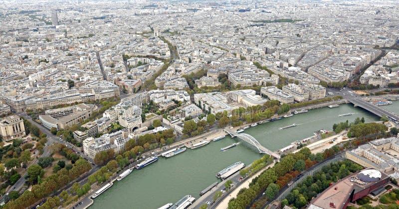 Frankrijk Parijs en de Zegenrivier royalty-vrije stock afbeeldingen