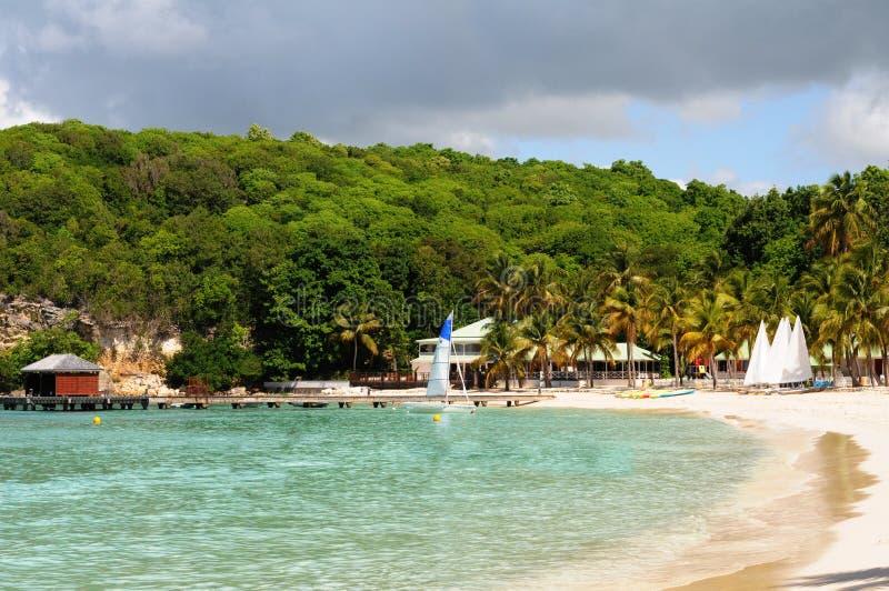 Frankrijk, Sainte Anne in Guadeloupe royalty-vrije stock afbeeldingen