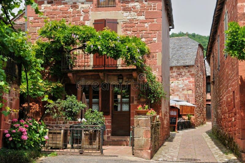 Frankrijk, schilderachtig dorp van Collonges-de Rouge van La stock foto