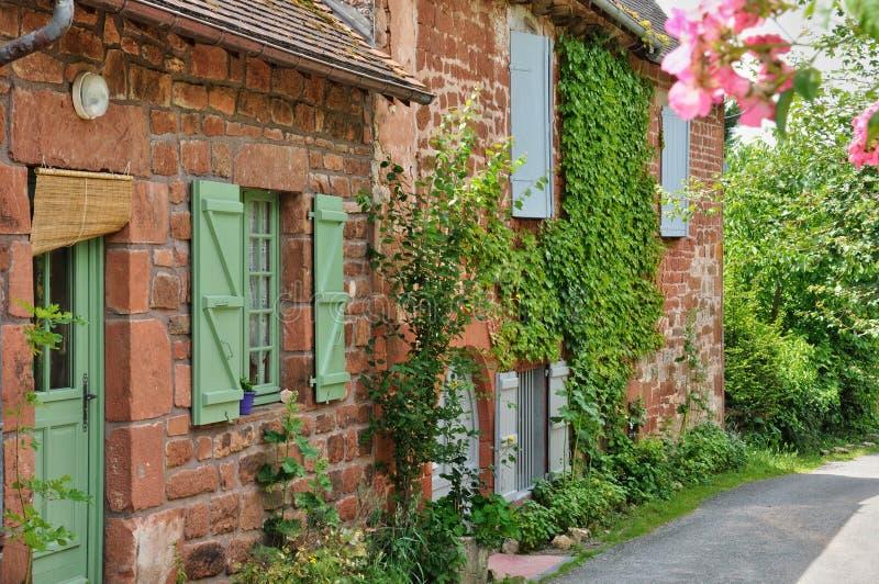 Frankrijk, schilderachtig dorp van Collonges-de Rouge van La royalty-vrije stock foto
