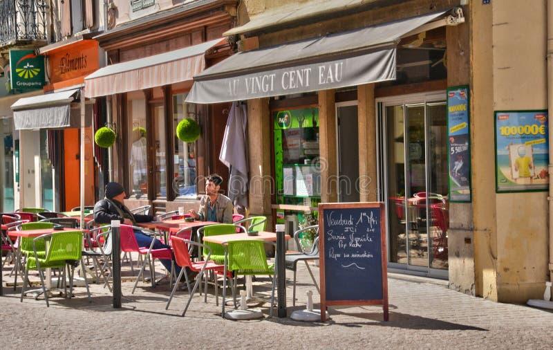Frankrijk, schilderachtig dorp van La Clayette in Saone et de Loire royalty-vrije stock foto