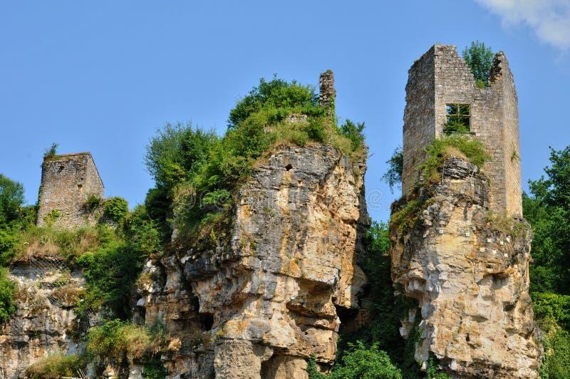 Frankrijk, schilderachtig kasteel van Cuzorn in Partij et Garonne royalty-vrije stock afbeelding