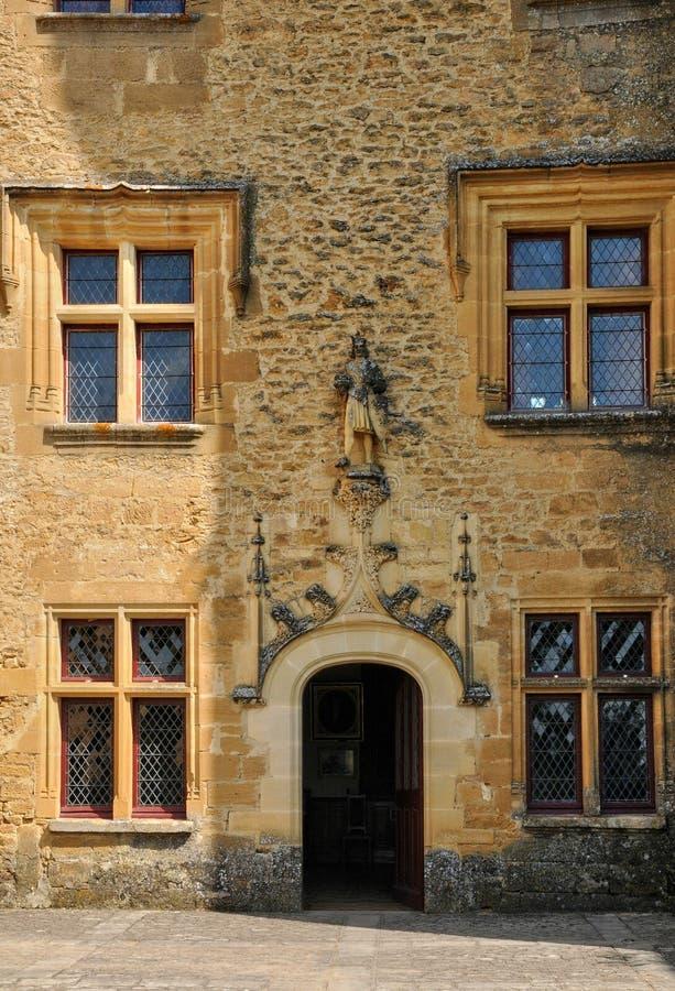 Frankrijk, schilderachtig kasteel van Puymartin in Dordogne royalty-vrije stock afbeelding