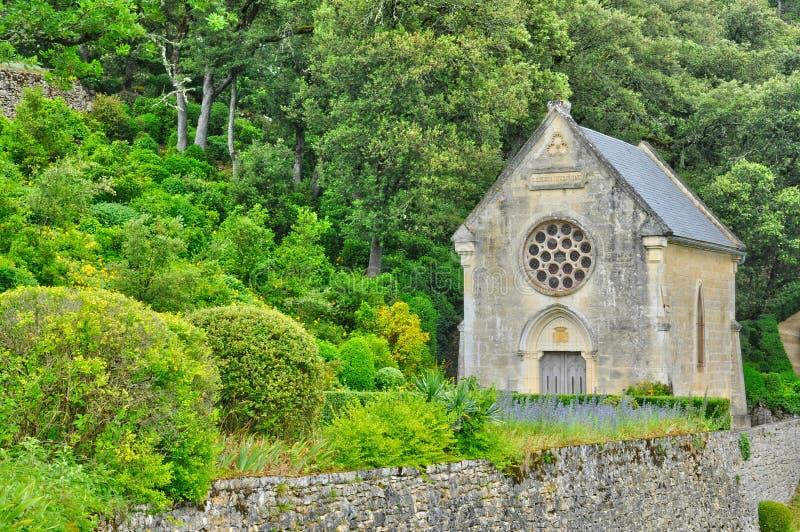 Frankrijk, schilderachtige tuin van Marqueyssac in Dordogne royalty-vrije stock afbeelding