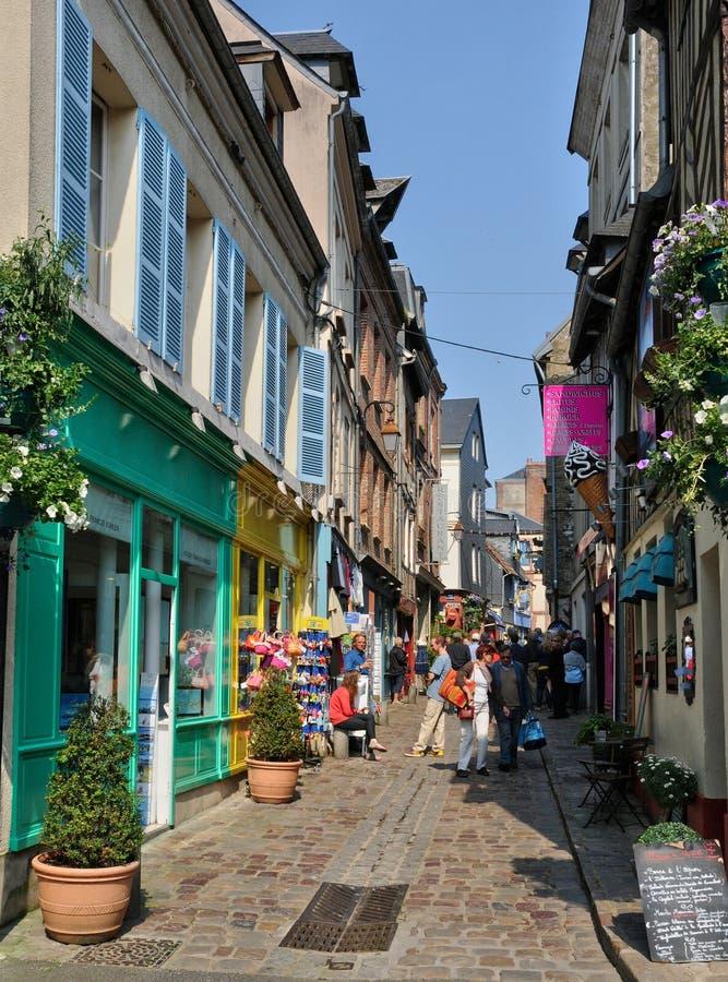 Frankrijk, stad van Honfleur in Normandie royalty-vrije stock afbeeldingen