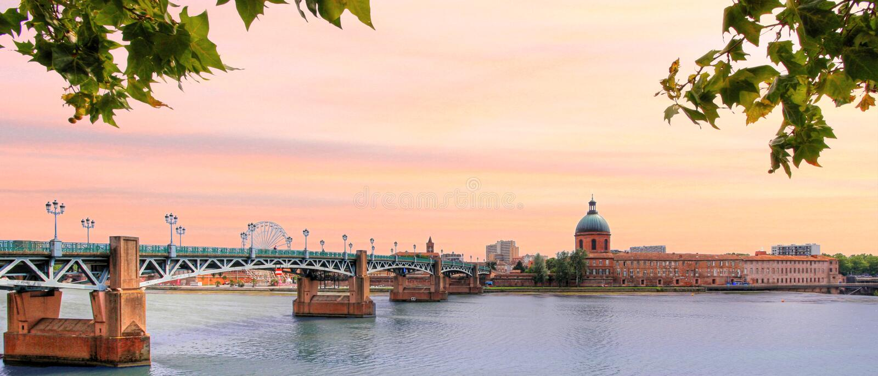 Frankrijk - Toulouse stock foto's