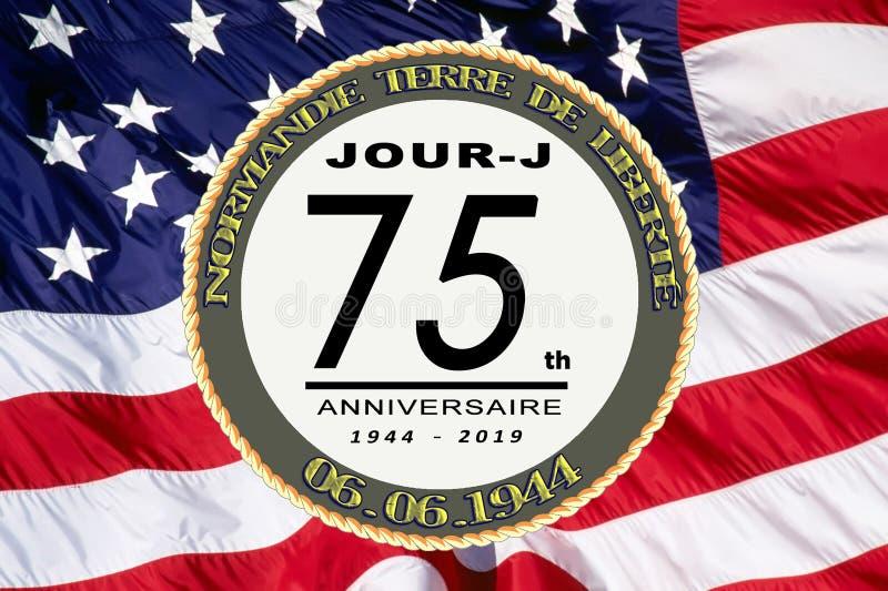 Frankrike årsdag för dag D 75th arkivfoto