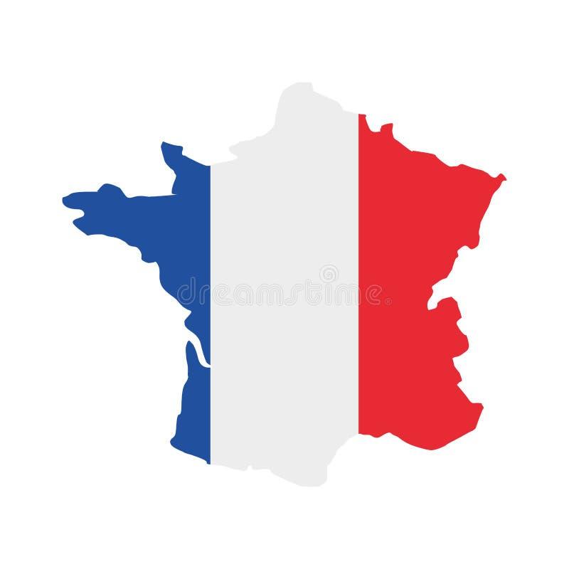 Frankrike översikt isolerad symbol stock illustrationer