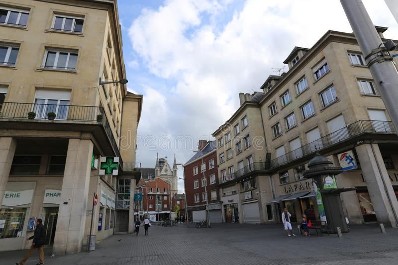 Frankrike Amiens Juli 2014 arkivbild
