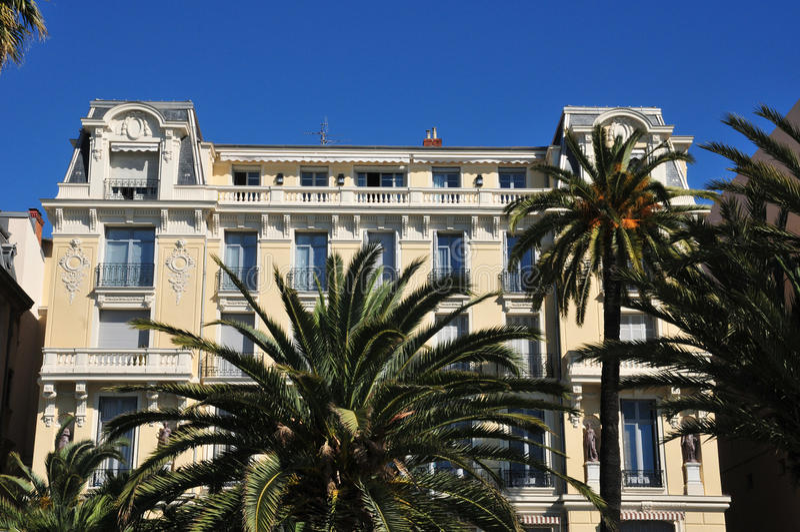, Frankrike - april 19 2016: Promenade des Anglais royaltyfri fotografi