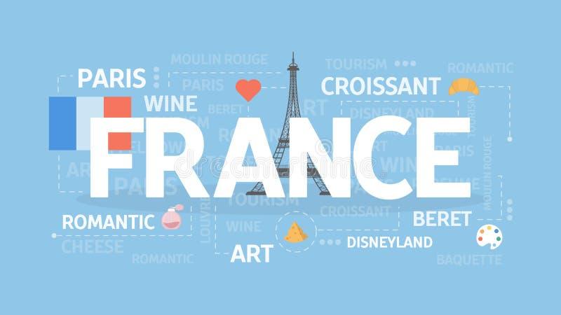 Frankrike begreppsillustration vektor illustrationer